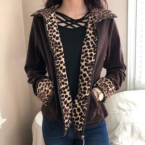 3 LEFT S-L SOFT Warm Leopard Cozy Soft Jacket Coat